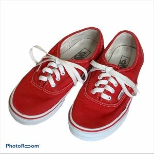 Vans Red low tops unisex sneakers SZ 3.5 kids